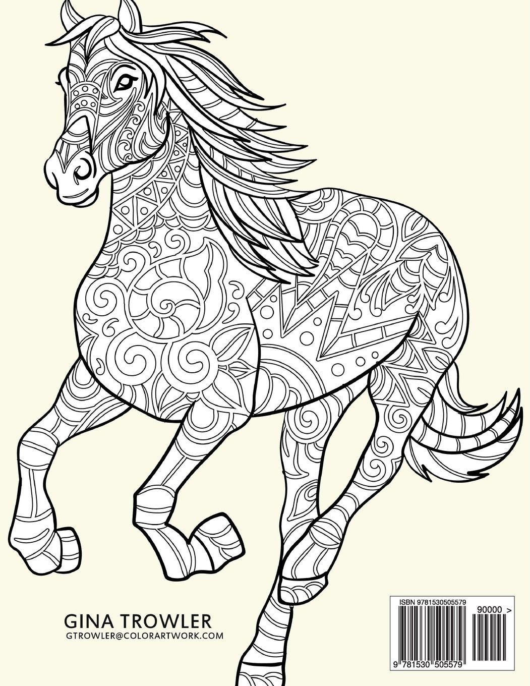 Lovely Detailed Horse Coloring Pages For Adults