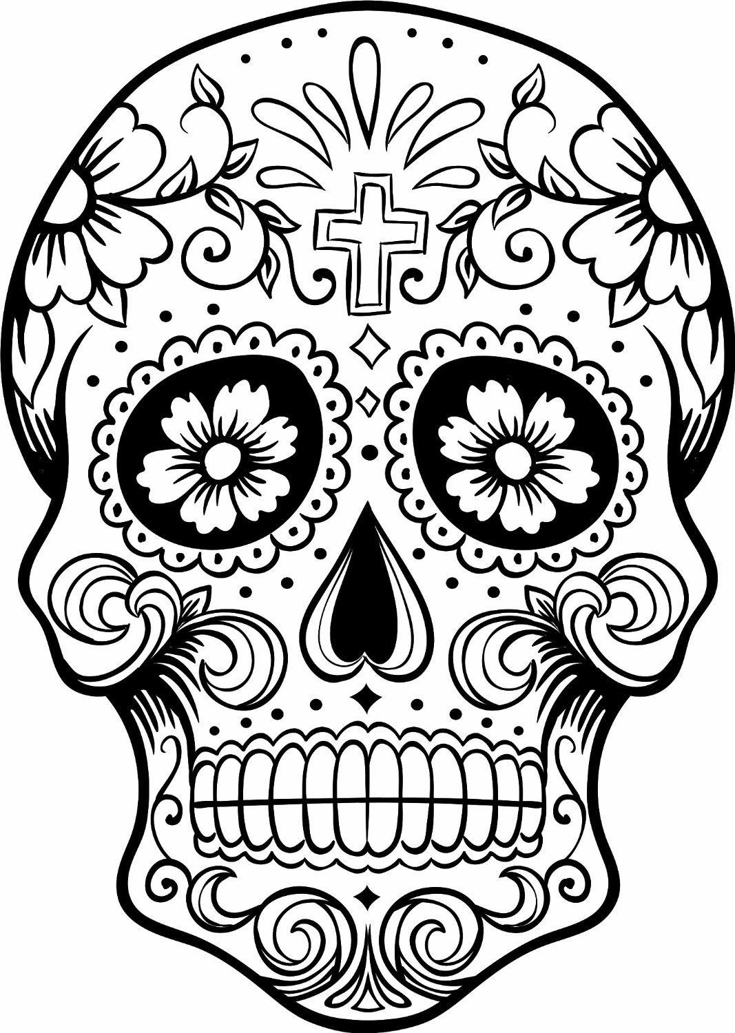 Day Of Dead Coloring Pages