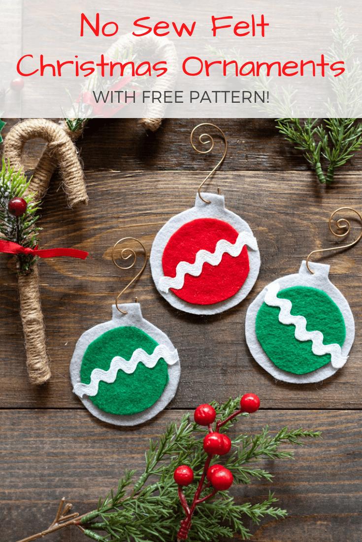 No Sew Easy Felt Christmas Ornaments