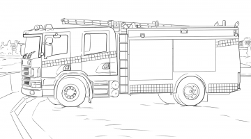 Fire Station Coloring Pages