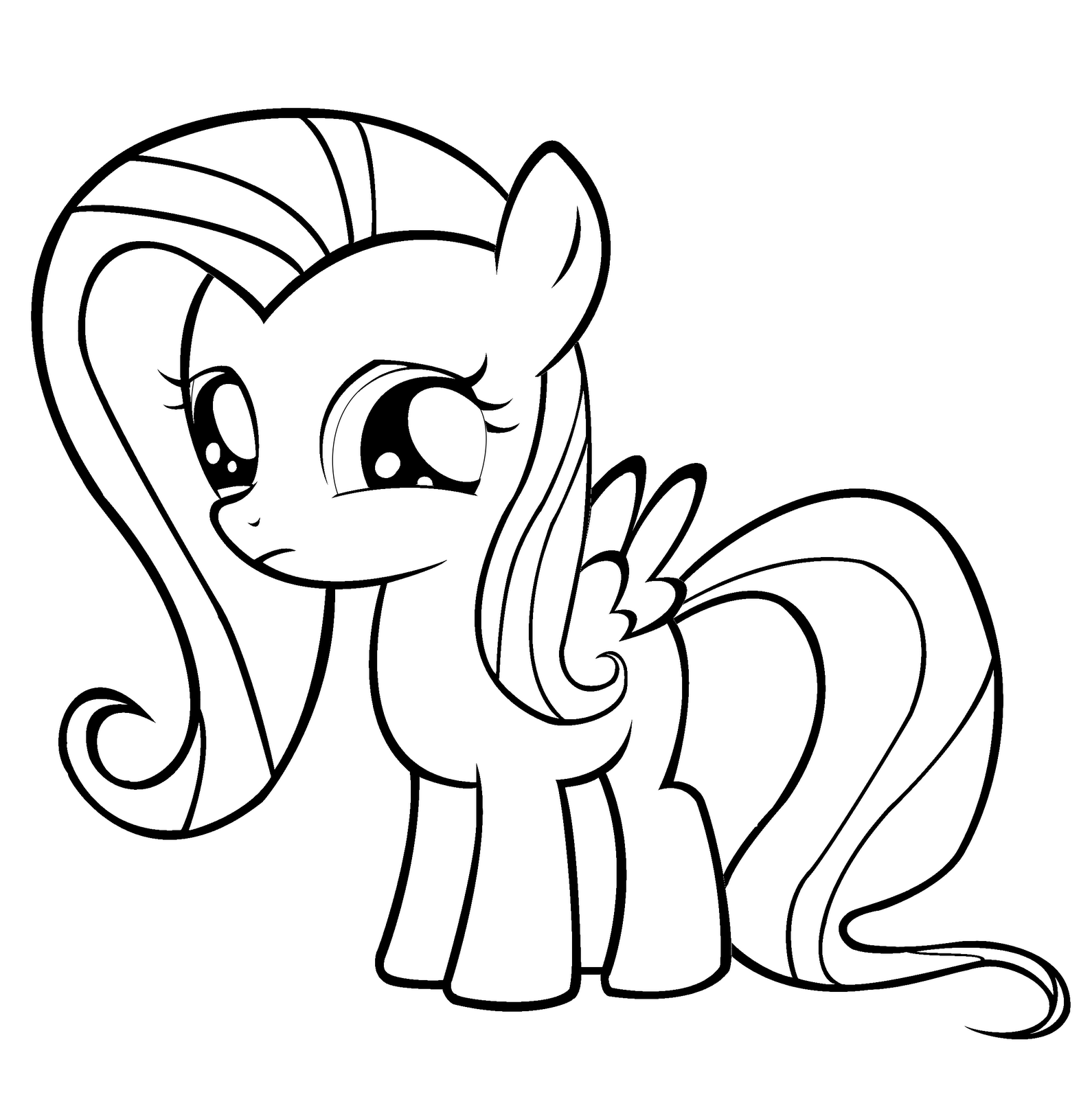 Fluttershy Coloring Pages 75 With Fluttershy Coloring Pages