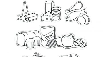 Food Pyramid Coloring Pages For Preschoolers