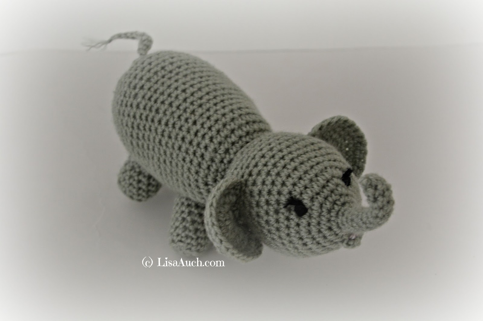 Free Crochet Patterns And Designs By Lisaauch  Crochet Elephant A