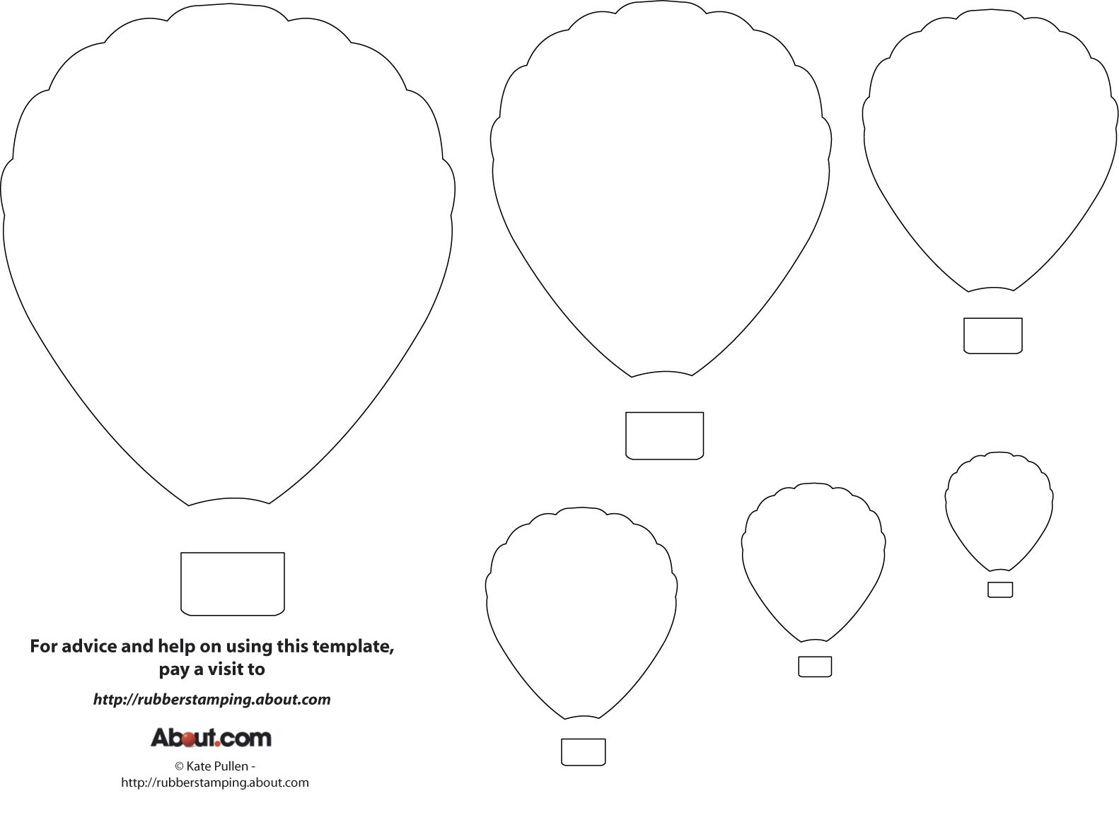 Balloon Printable Pattern