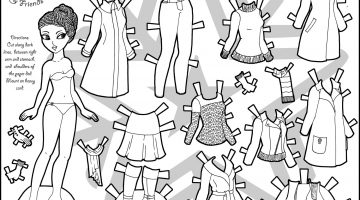 Coloring Pages Of Paper Dolls