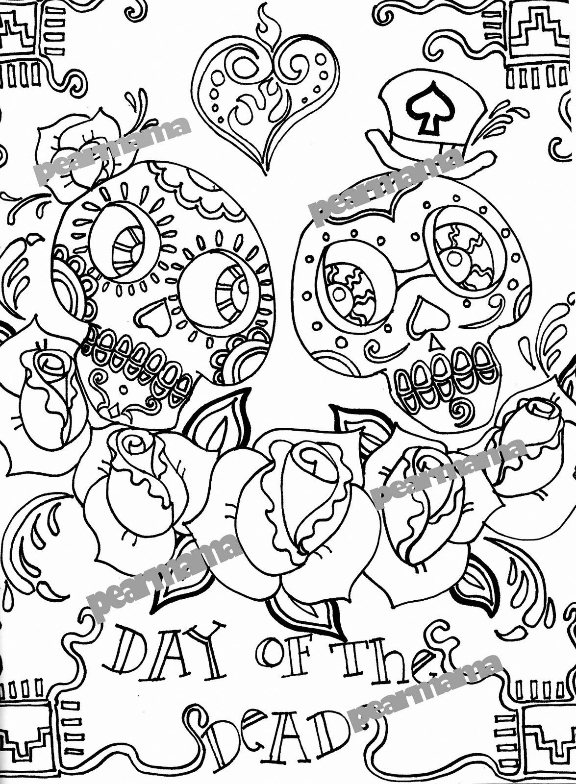 Beautiful Grateful Dead Coloring Pages Free