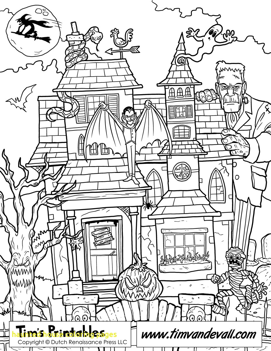 Free Printable Haunted House Coloring Pages For Kids In