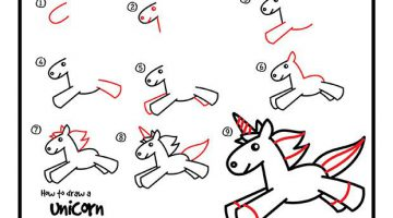 Unicorn Pictures For Kids To Draw