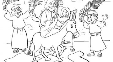 Colouring Pictures Of Jesus On A Donkey