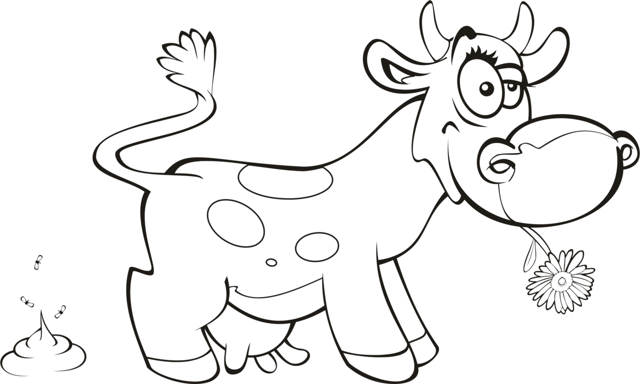 Dairy Cattle Drawing Calf Coloring Book Free Commercial Clipart