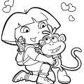 Dora Coloring Picture