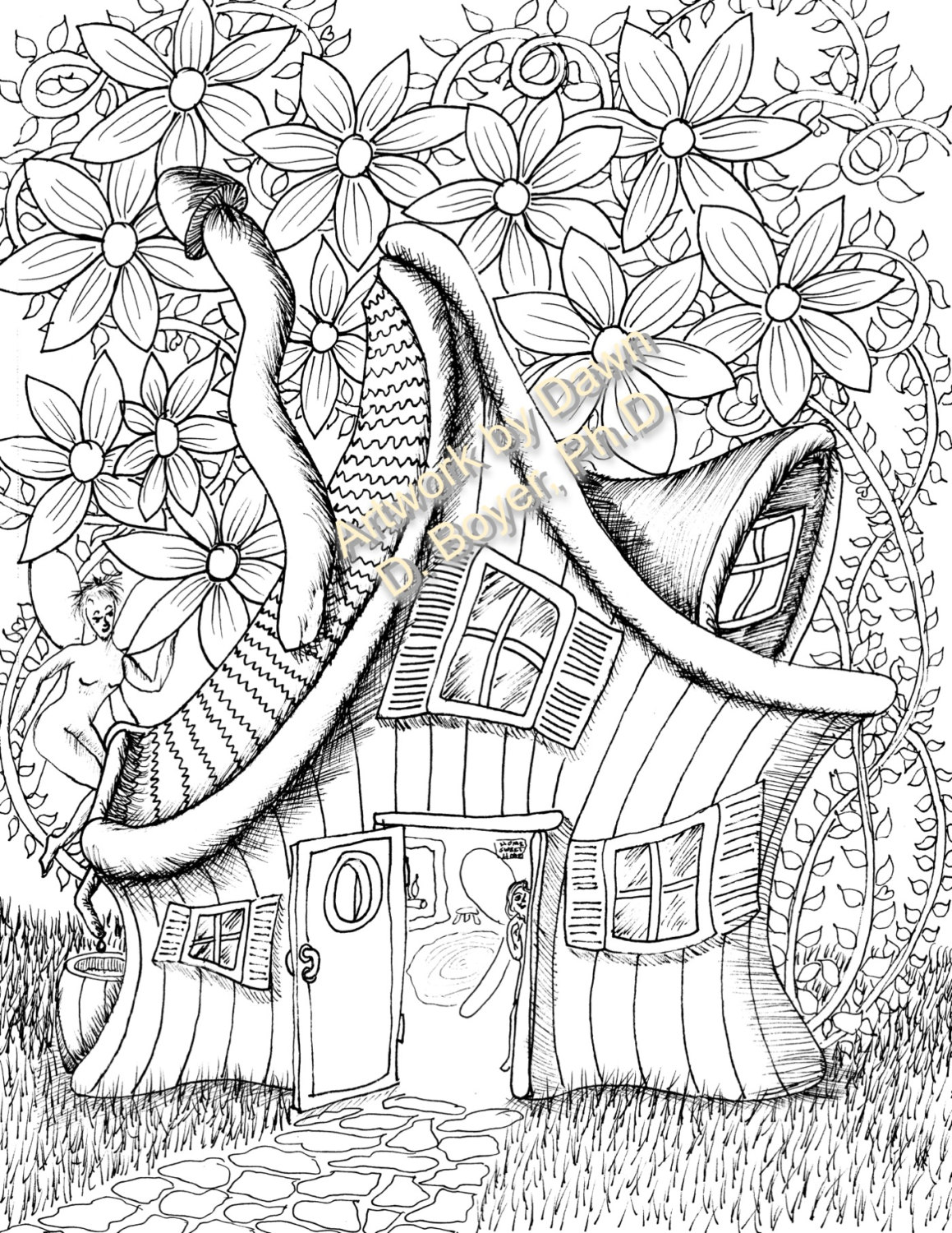 Lifetime Faerie Coloring Pages Fairy Houses And Doors Vol 3 4