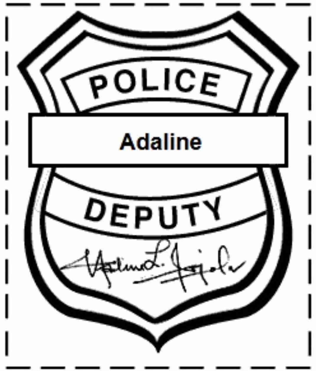 Mainstream Police Badge Printable Free Badges Template Clipart