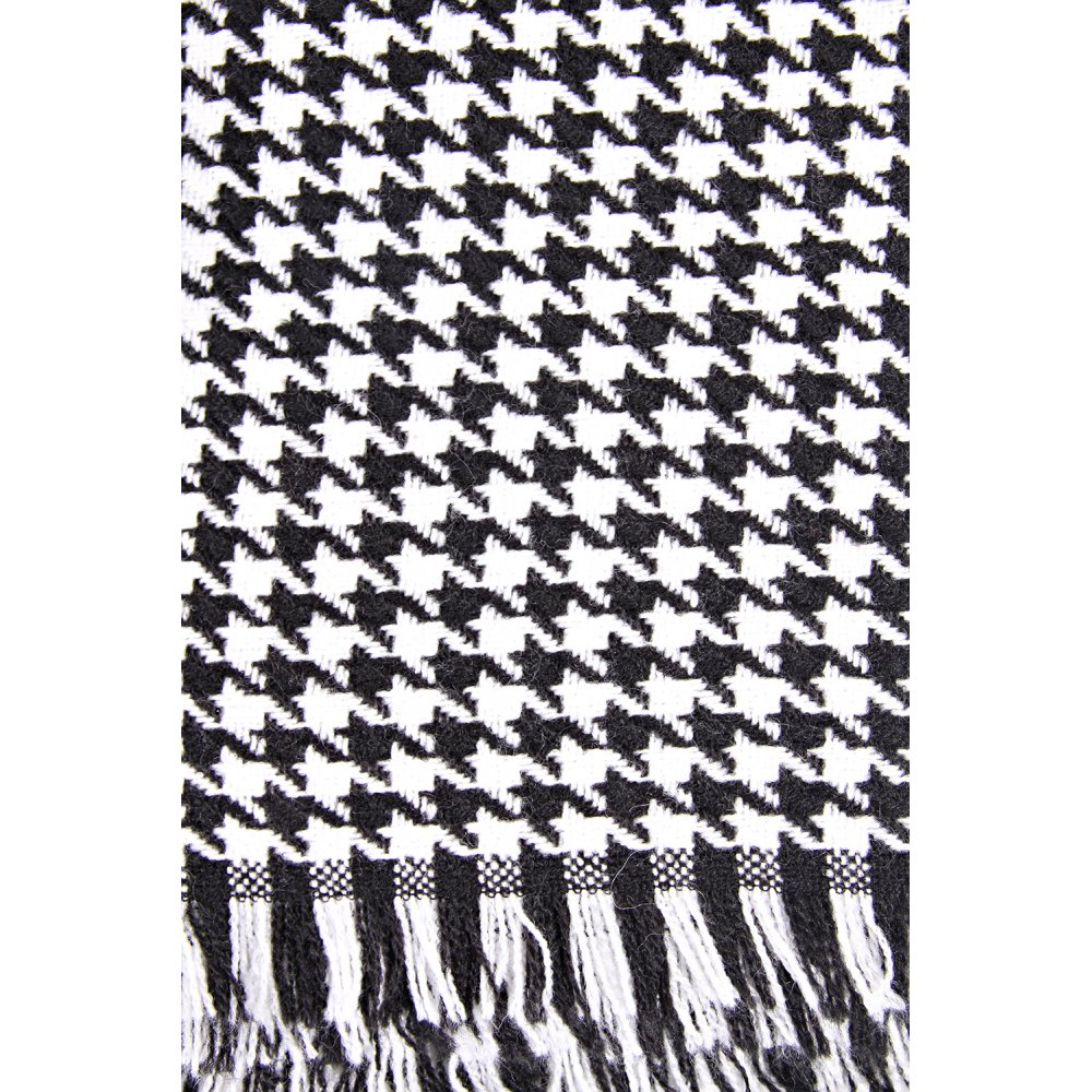 Maison Scotch Maison Scotch Soft Scarf In Dog Tooth Print Black Wt