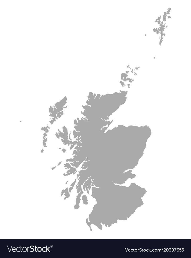Map Of Scotland Royalty Free Vector Image