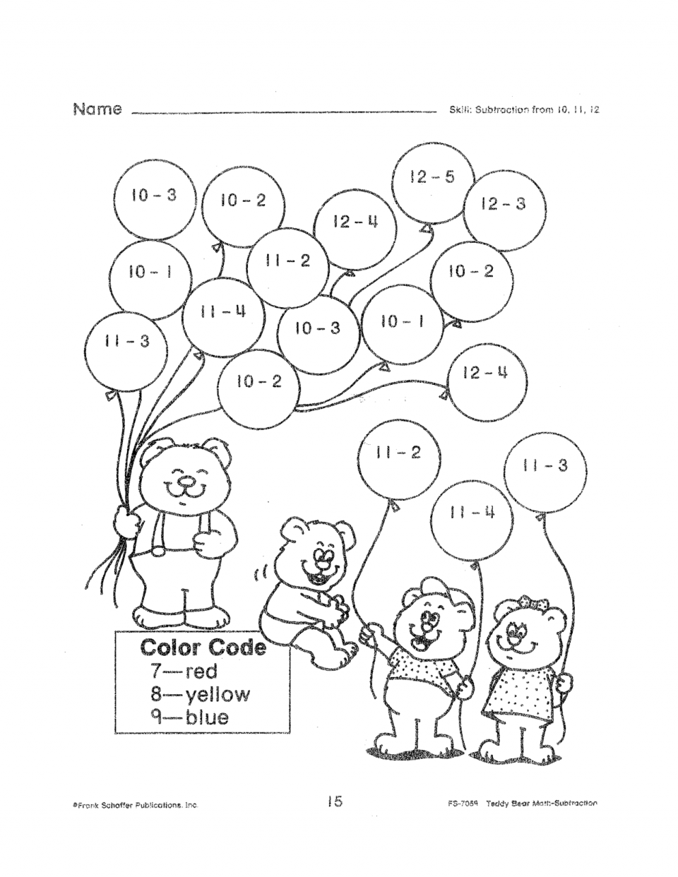 Kindergarten Math Addition Coloring Worksheets Gallery For