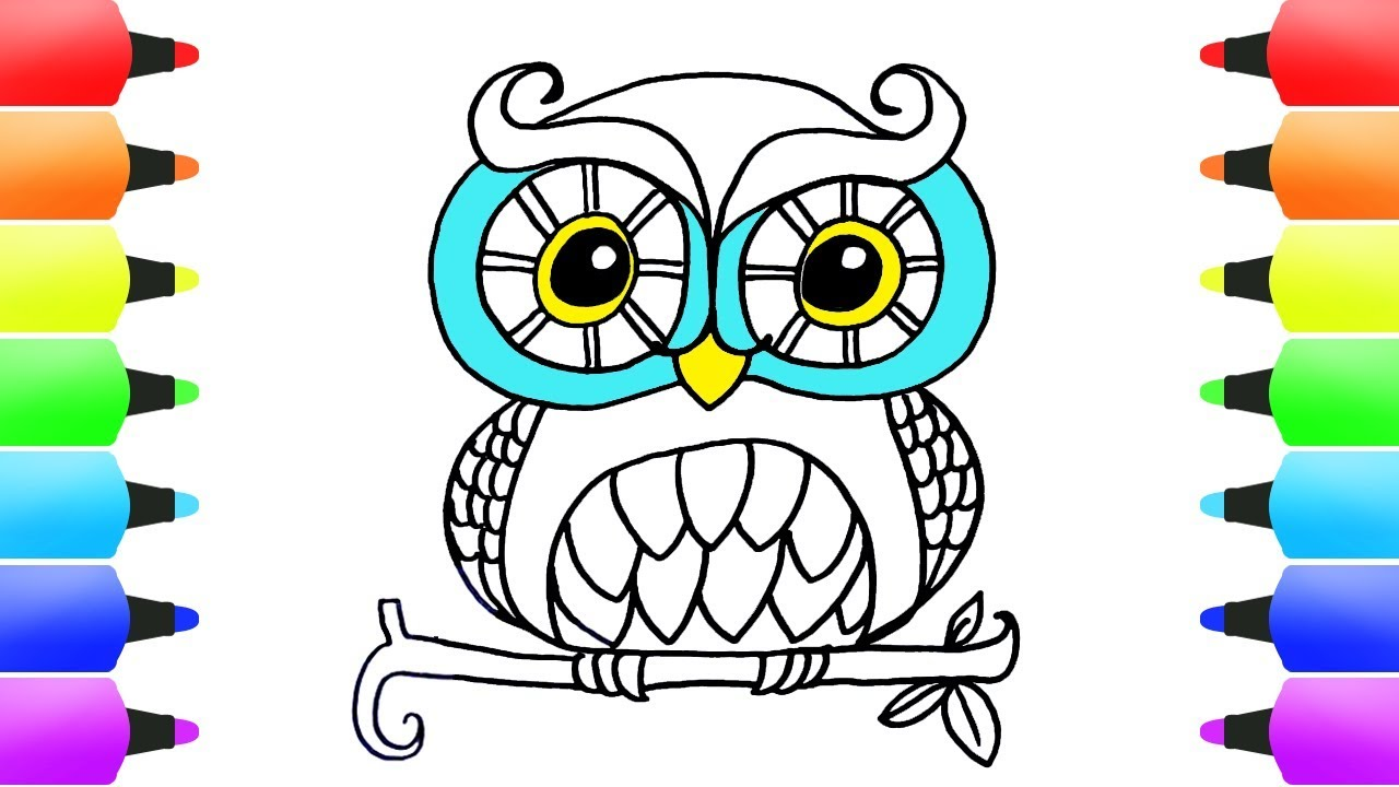 How To Draw Animals Easy Coloring Pages For Kids! Cute ...