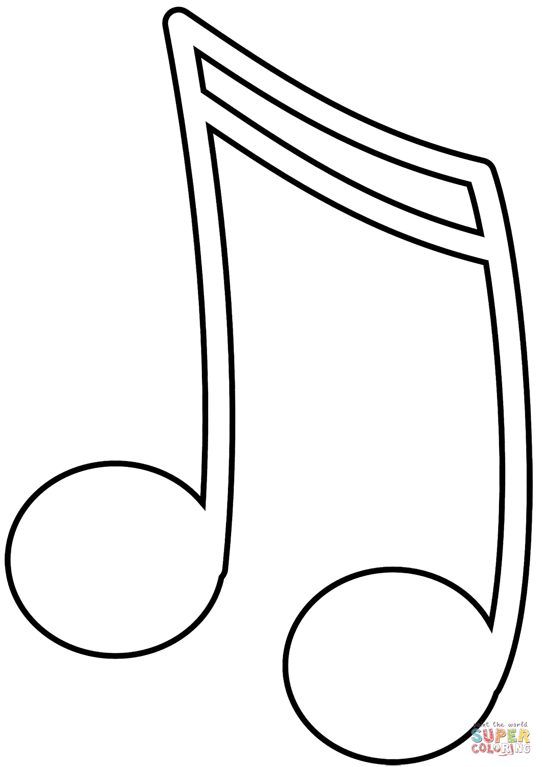 Music Note Coloring Page