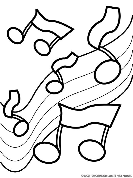 Music Notes2 18 Music Notes To Color