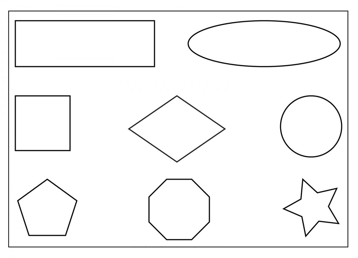 New Coloring Shapes Worksheet Printable Preschool Worksheets