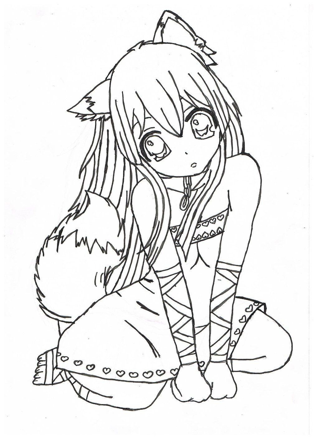 Pioneering Free Colouring Pictures Nice Brilliant Anime Girl