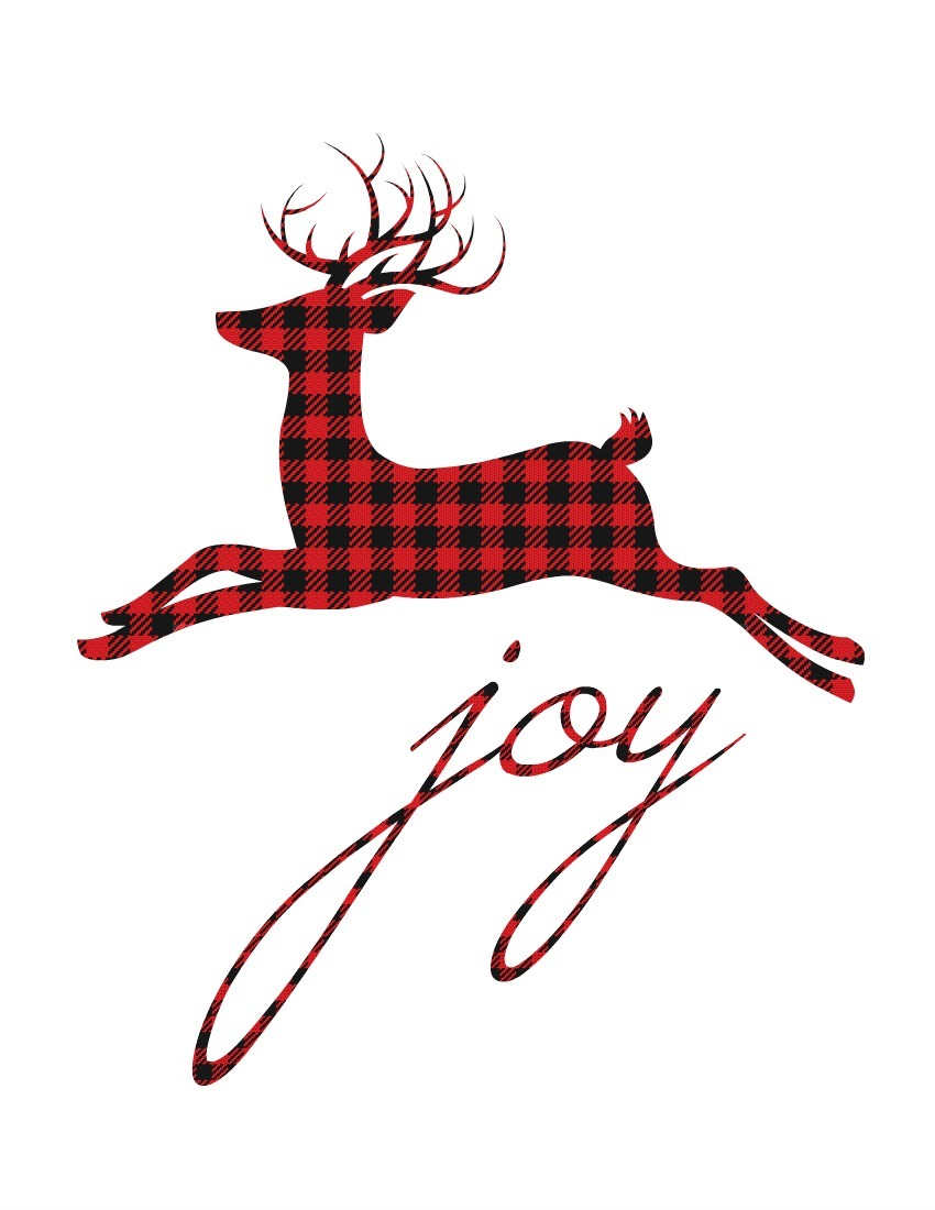 12 Plaid & Buffalo Check Free Christmas Printables {& More!}
