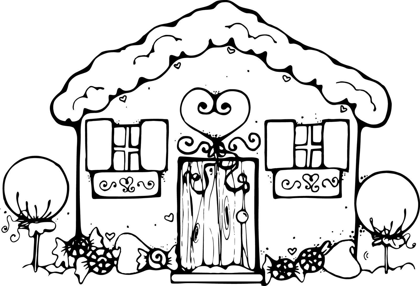 Practical House Coloring Pages To Print Free Printable For Kids  16165