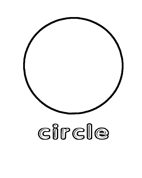 5 Best Images Of Preschool Circle Coloring Pages