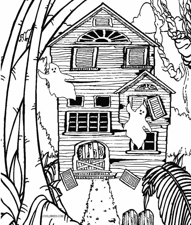 Printable Haunted House Coloring Pages 12  24752