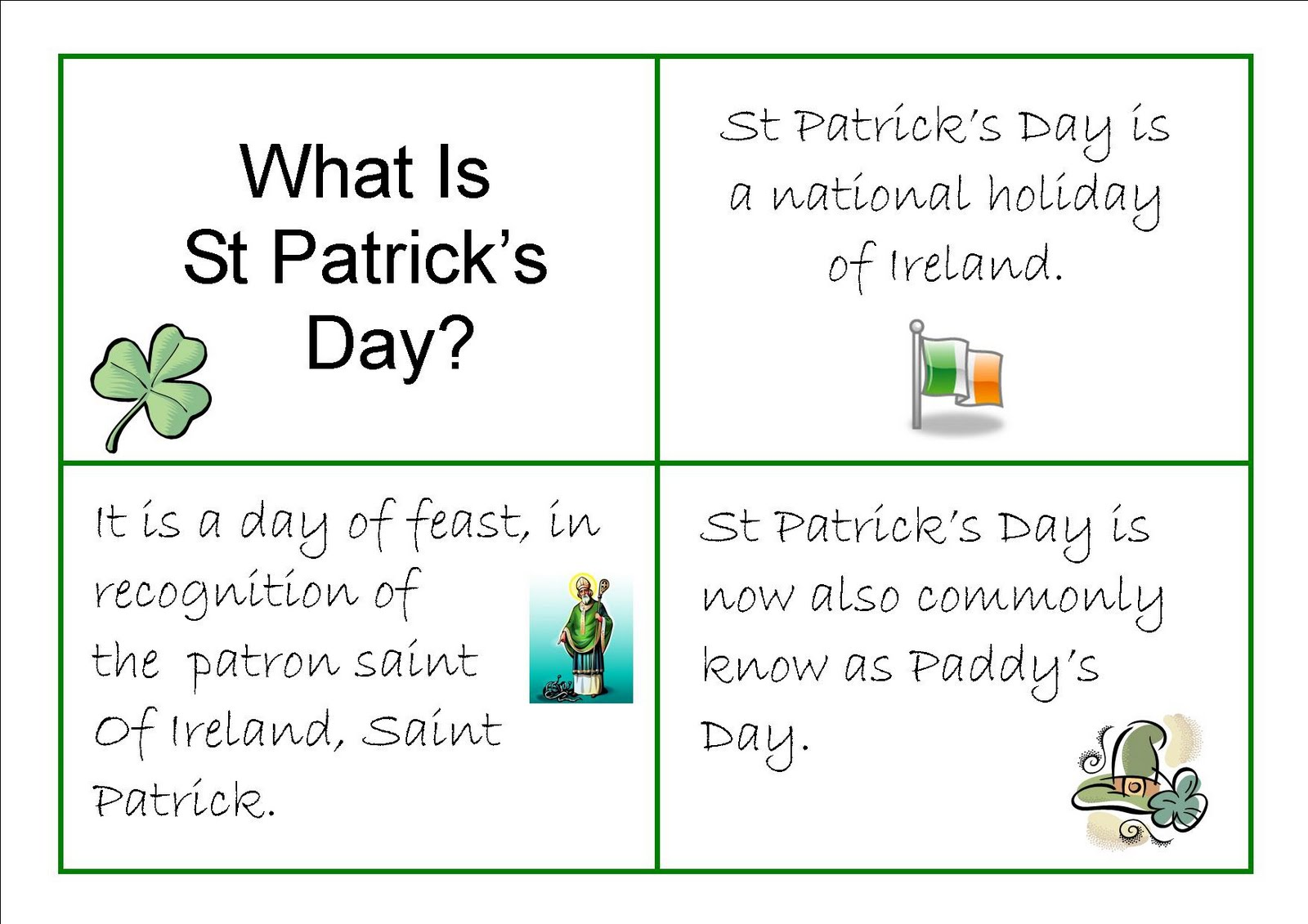 St Patrick's Day Printables For All Ages