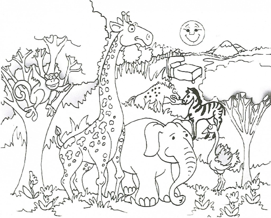 Safari Explorer Coloring Page At Pages And