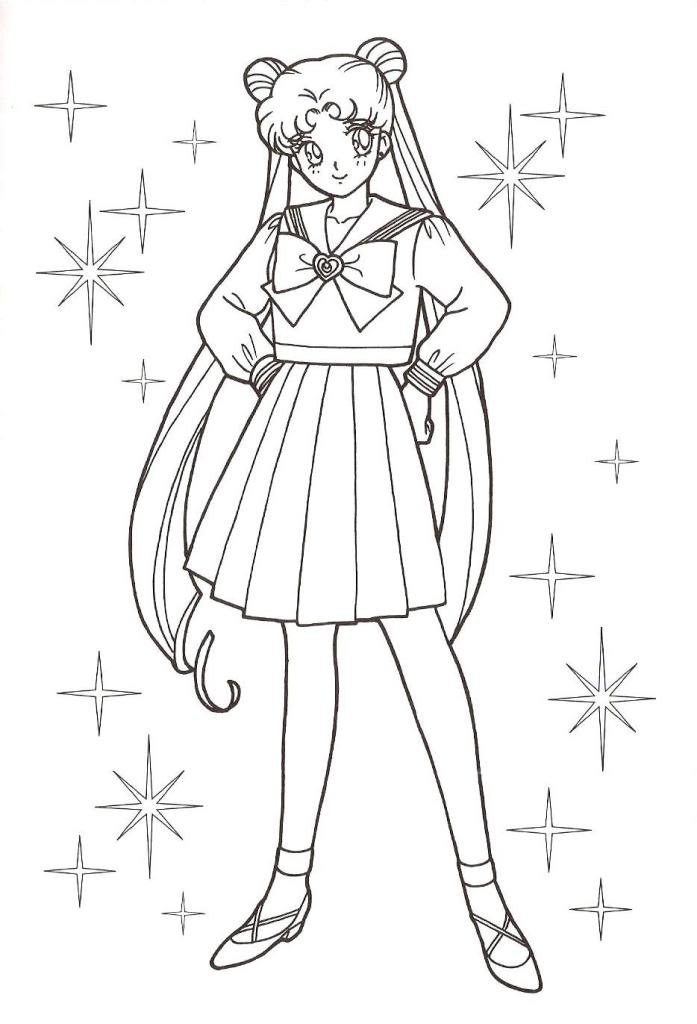 Sailor Moon Coloring Pages 2 Sailor Moon Coloring Pages Printable
