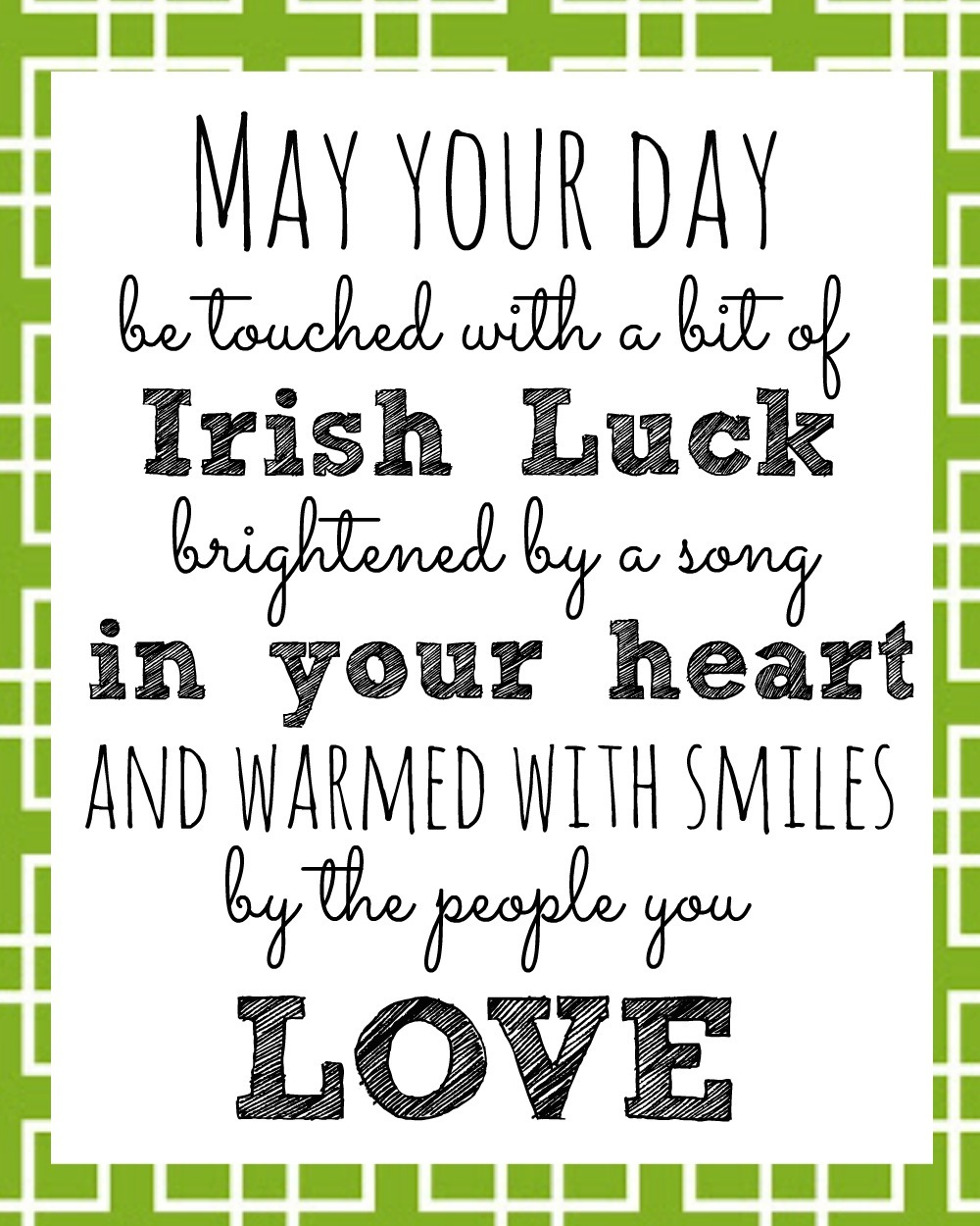 Irish Blessing Printable For St  Patrick's Day