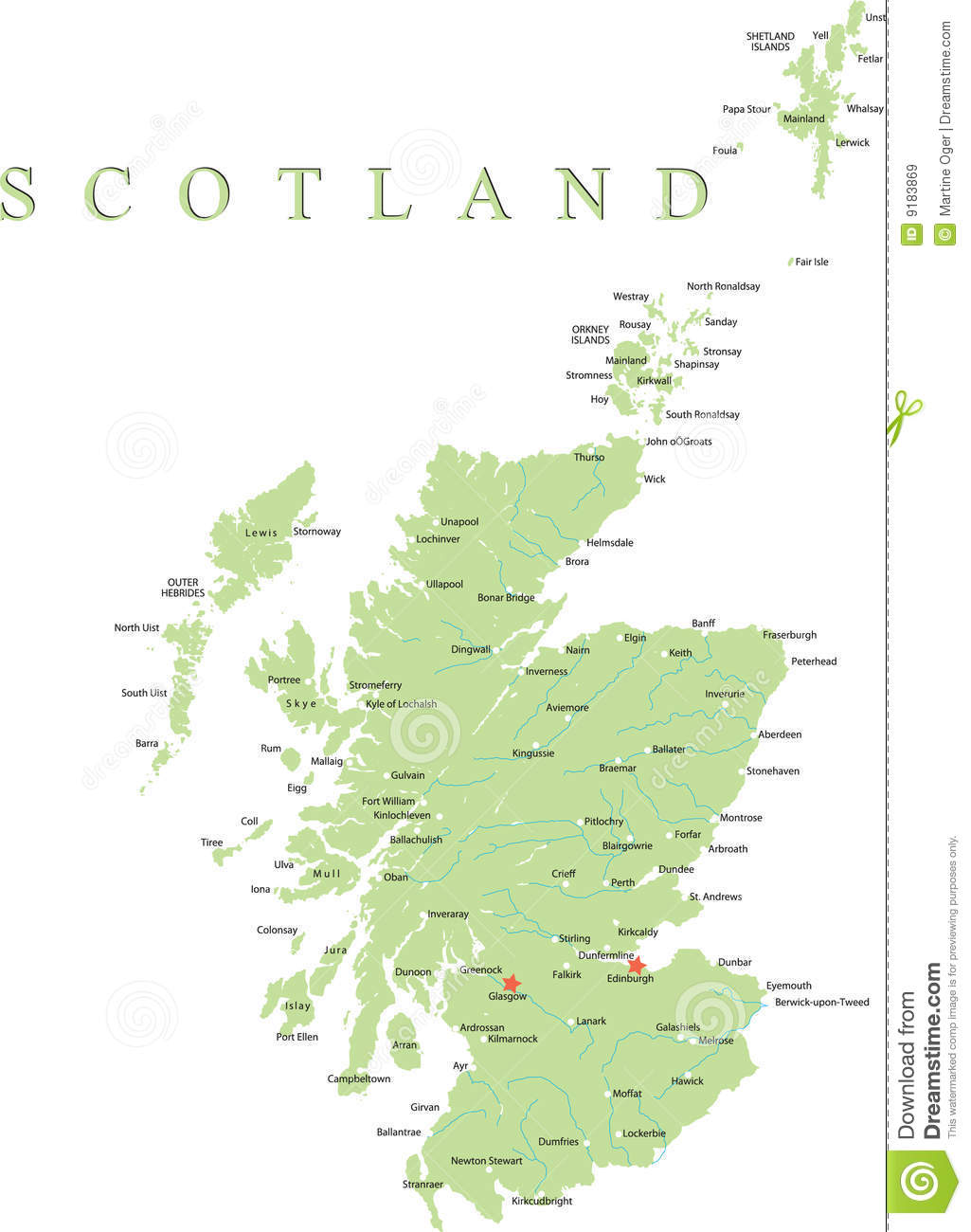 Scotland Map  Stock Vector  Illustration Of Element, Eire