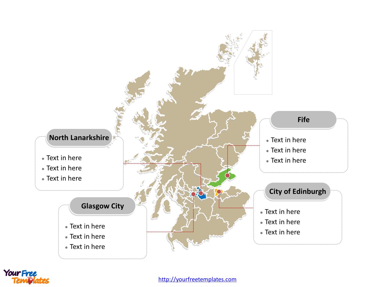 Free Scotland Editable Map