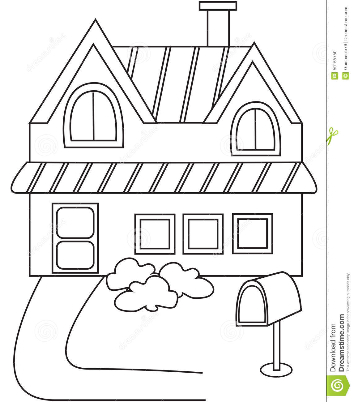House Coloring Pages  490