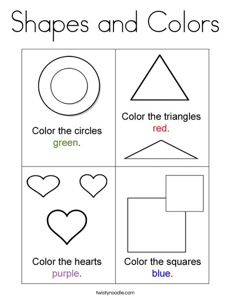 Free Coloring Pages Shapes And Colors