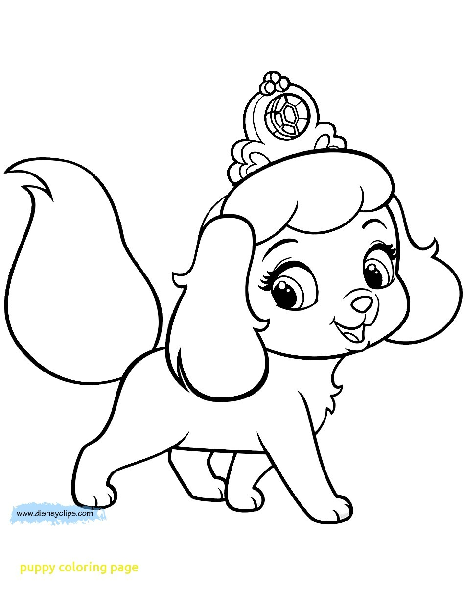 Simple Puppy Coloring Page Interesting Cute Pages Printable 10245