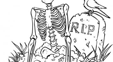 Skeleton Pictures To Colour