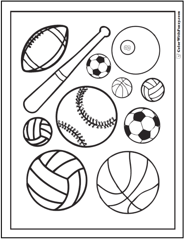 Coloring Pages For Kids Sports  2077957
