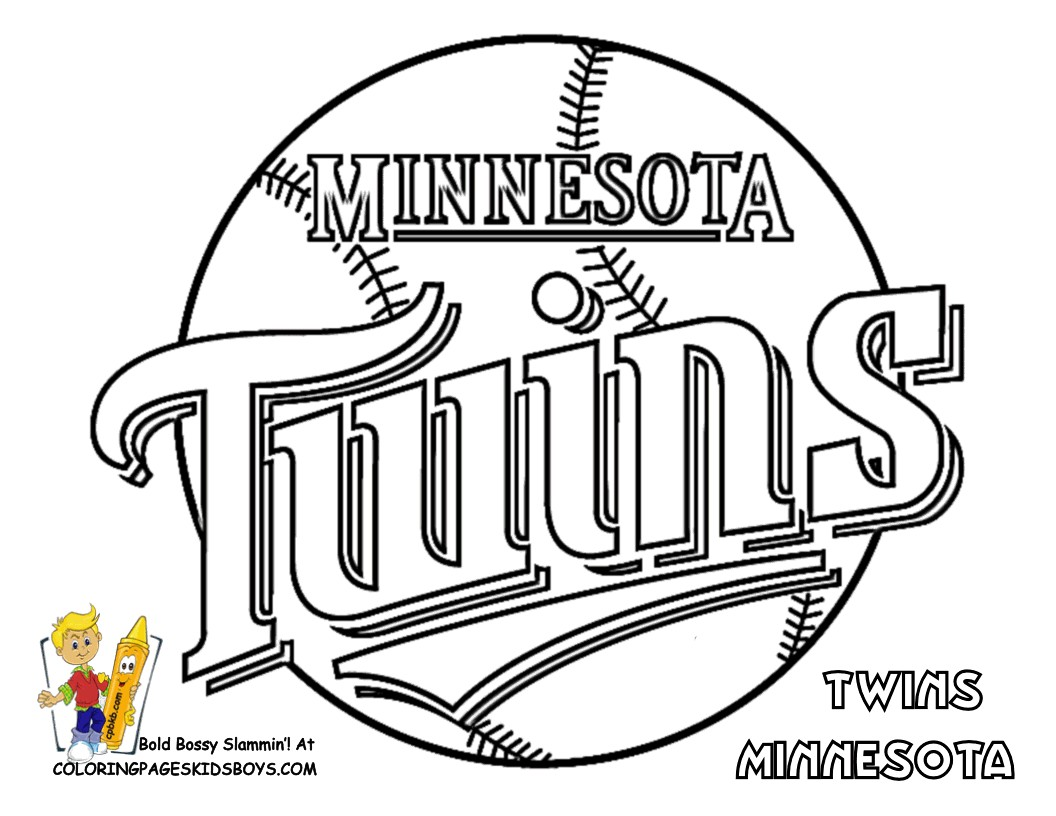 Sports Coloring Pages Pdf Best Of Twins Logo Color Book