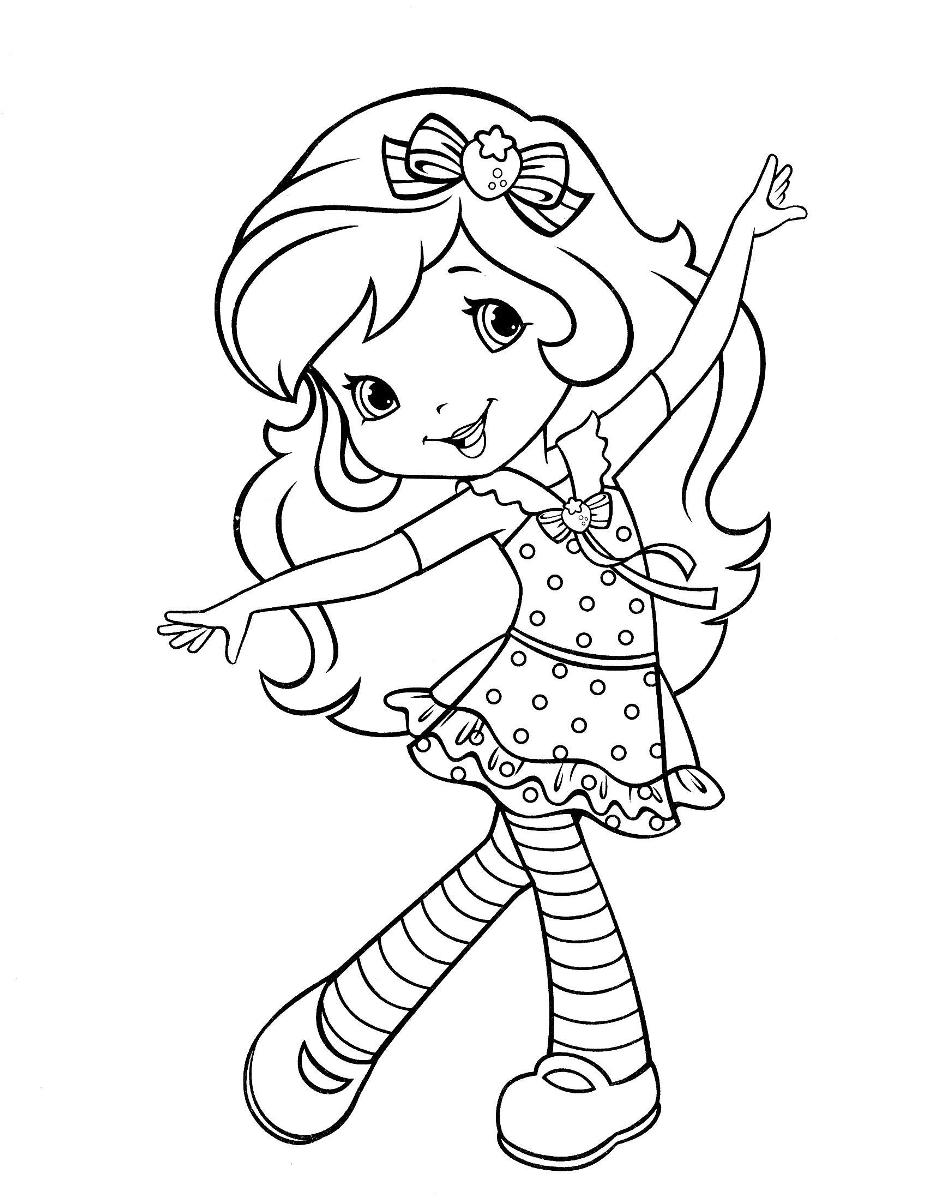 Strawberry Shortcake Coloring Pages To Print — Classic Style