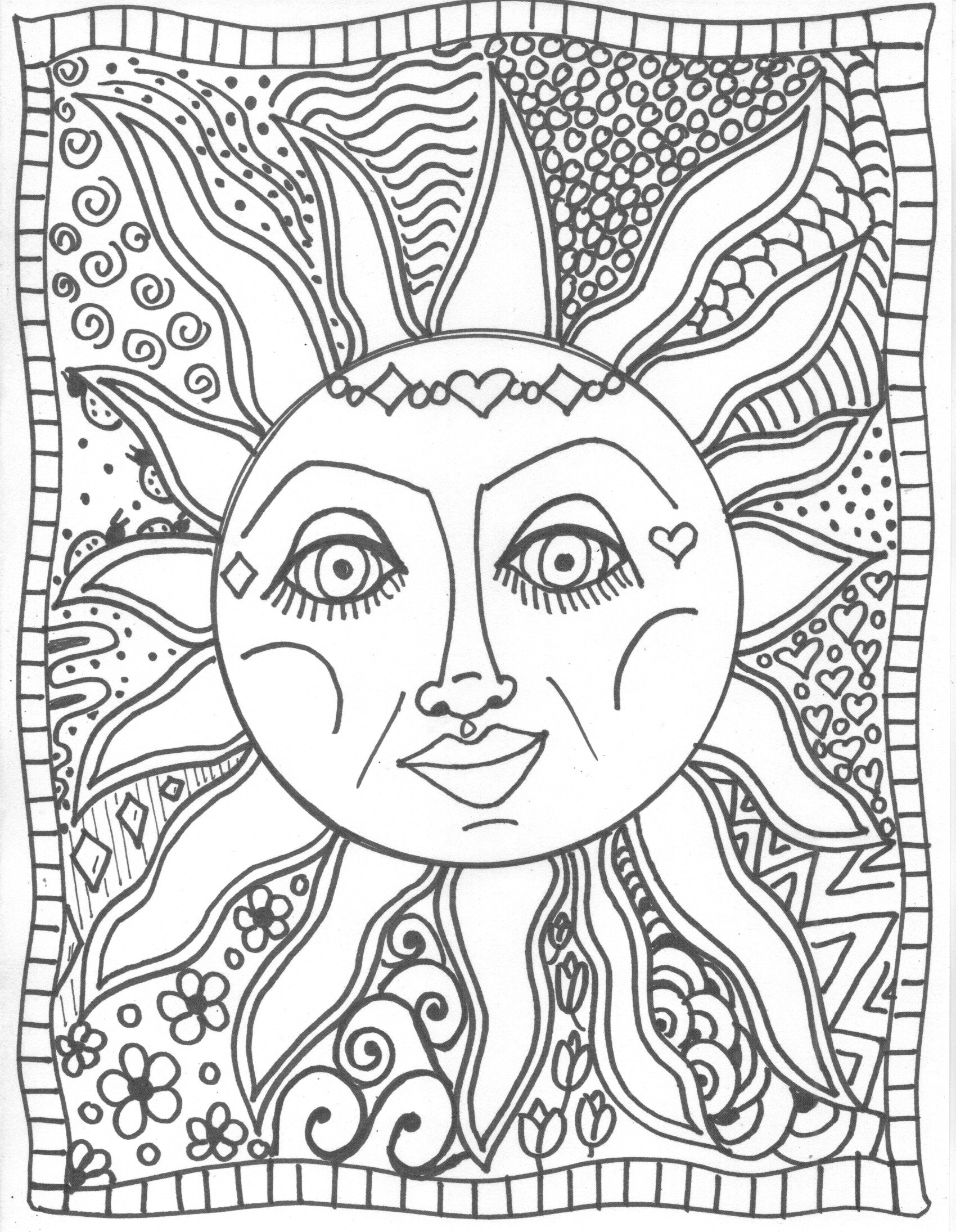 Sun And Moon Coloring Pages 82 With Sun And Moon Coloring Pages