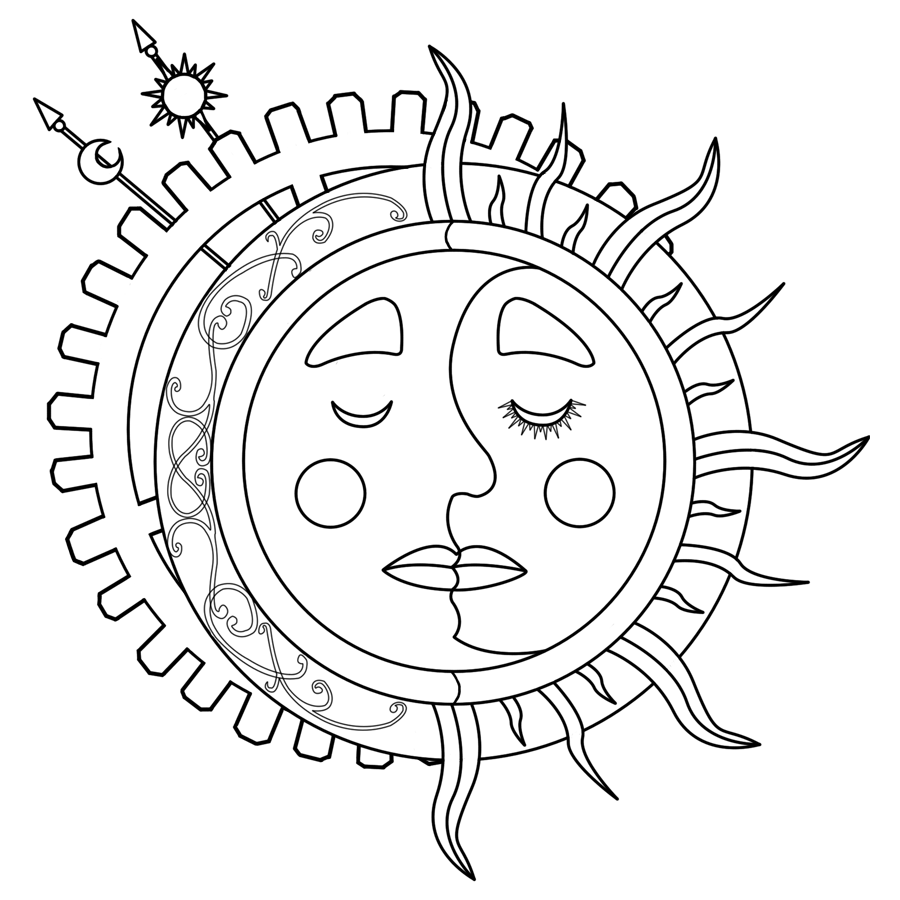 Sun And Moon Coloring Pages 88 With Sun And Moon Coloring Pages