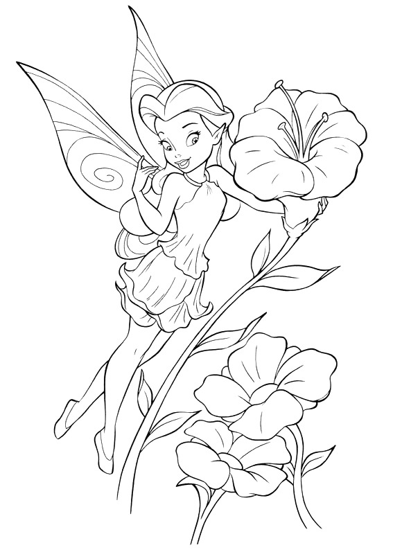 Luxury Disney Fairy Coloring Pages 24