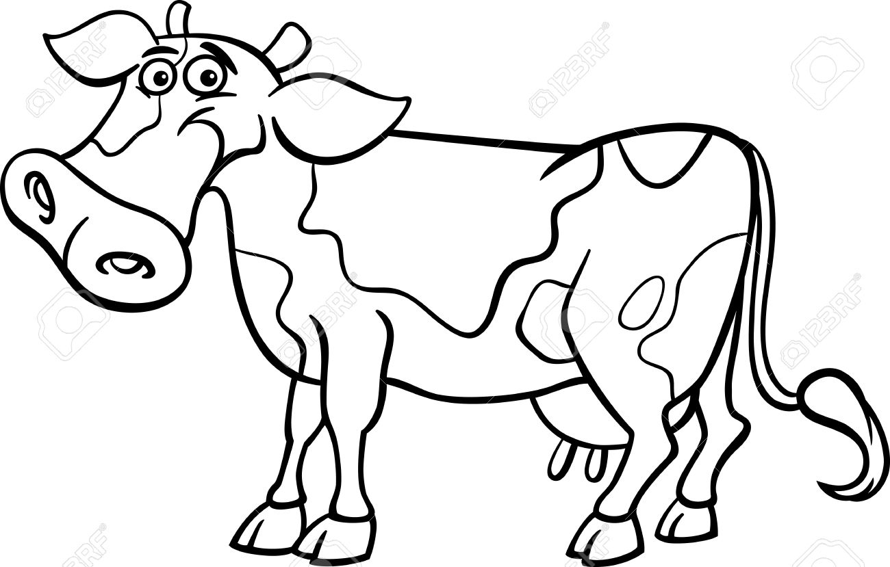 Alert Famous Coloring Book Cow Stock Vector Illustration Of Baby