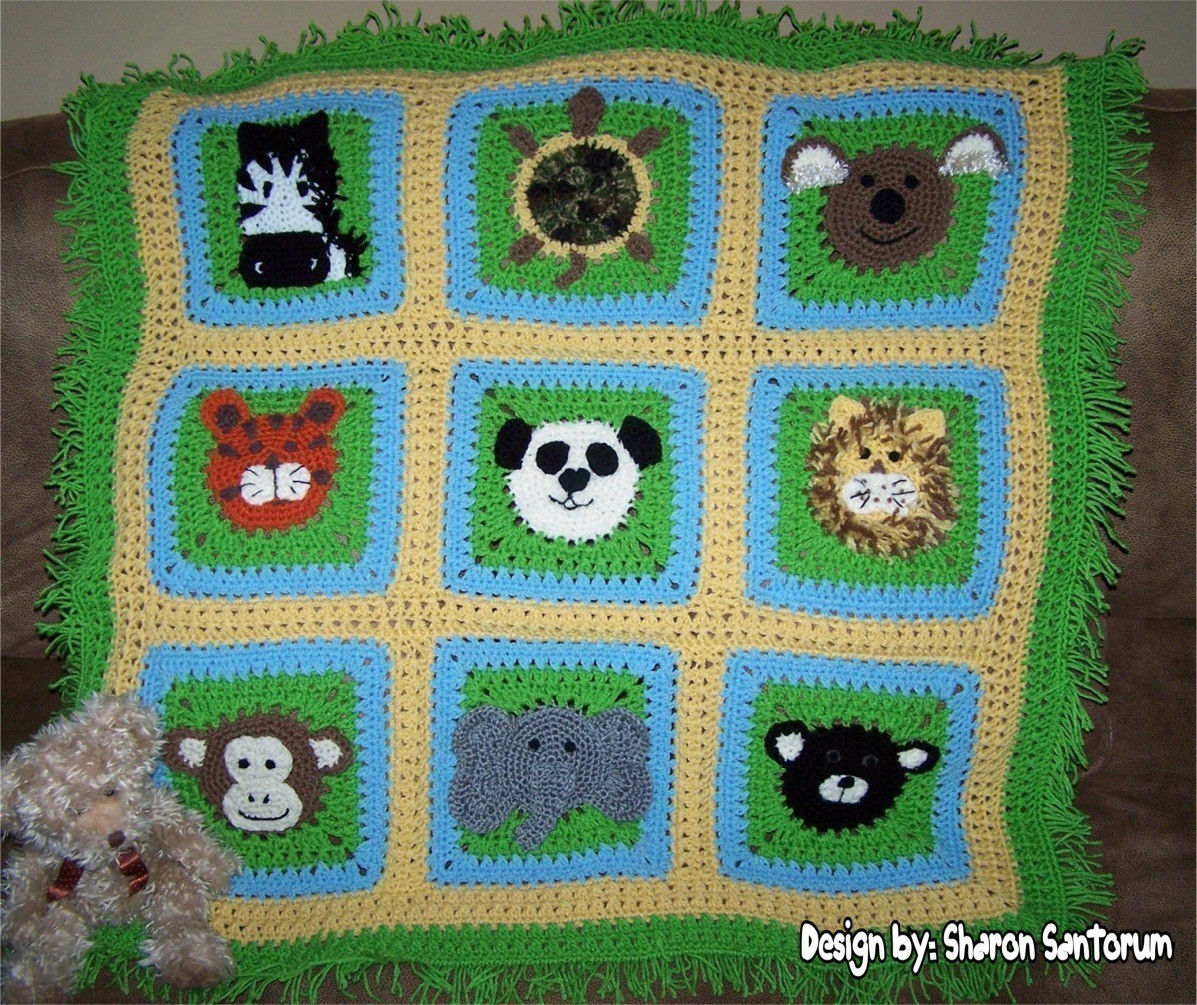 Top Free Crochet Animal Baby Blanket Patterns A Day At The Zoo