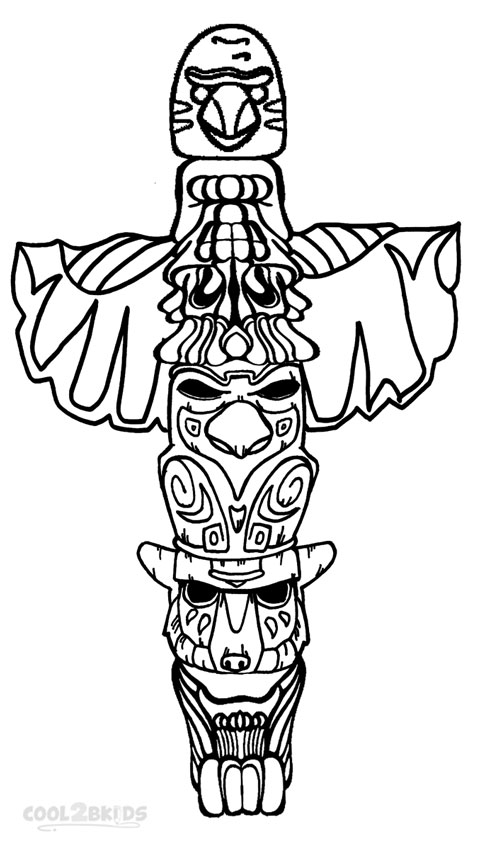 Totem Pole Coloring Pages 5  19432