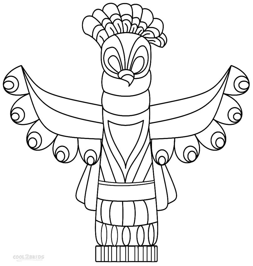 Totem Pole Coloring Pages 6  19433