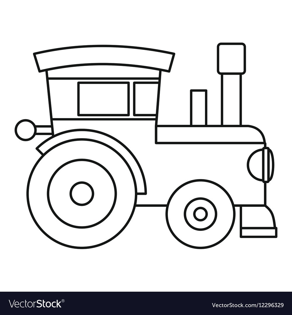 Outline Picture Of Train - NEO Coloring